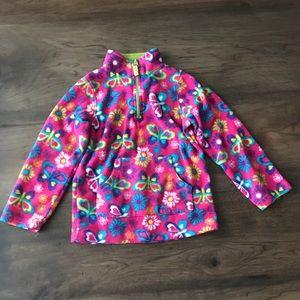 Arizona brand half zip girls 5T fleece sweatshirt